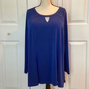 Susan Graver Liquid Knit Embellished Tunic